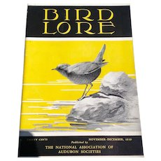 Vintage November - December 1939 Bird - Lore Published By The National Association Of Audubon Societies