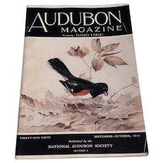 Vintage September - October 1941 Audubon Magazine