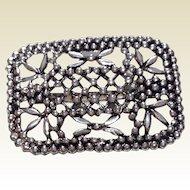 Vintage Silvertone Metal Sash Or Belt Buckle