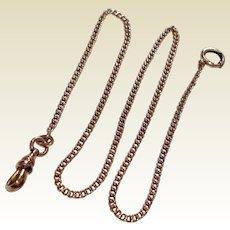 Vintage 14 K Gold Filled Watch Chain