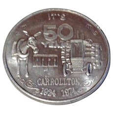 New Orleans Krewe Of Carrollton 50 Year Silver Doubloon