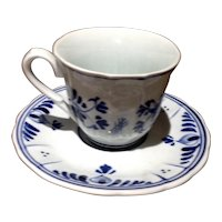 Vintage Delft Blue & White Demi Tasse Cup & Saucer