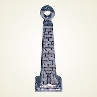 Vintage Sterling Silver Tower Charm