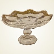 Vintage Pressed Glass Footed Compote