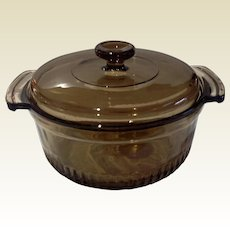 Anchor Hocking Small Covered Colored Casserole Dish