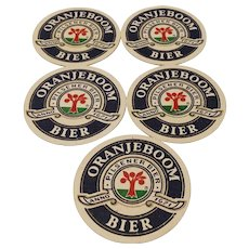 Vintage Advertising Netherlands Oranjeboom Bier Coaster Mats