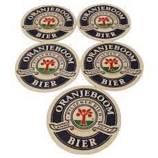 Vintage Advertising Netherlands Oranjeboom Bier Coaster Mats