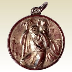 Vintage Sterling Silver St. Christopher Catholic Medal