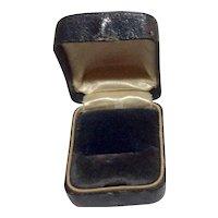 Vintage Blue Velvet Jewelry Presentation Box