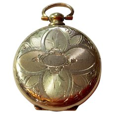 Victorian Gold Filled Pocket Watch Shaped Photo Locket