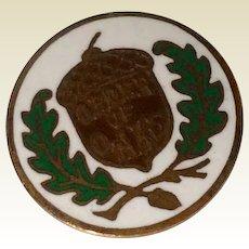 Vintage Order Of Oaks Whitehead & Hoag Co. Collar Button