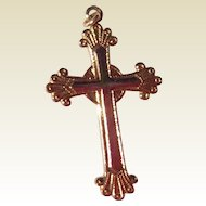 Vintage 14 K Gold Filled Ornate Cross