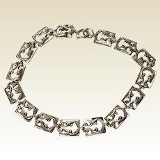 Vintage Danecraft Sterling Silver Flexible Link Bracelet