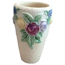 """Antique 1917 Roseville Rozane Floral  8"""" Vase"""