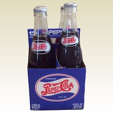 Vintage 1997 Pepsi Born In The Carolinas Four Bottle Case
