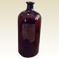 "Vintage Large 14"" Brown Guiatonic Bottle"
