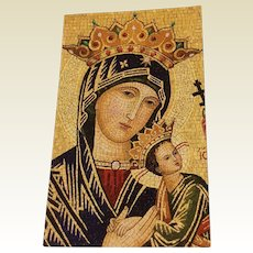 Vintage Mother Of Perpetual Help Prayer Card