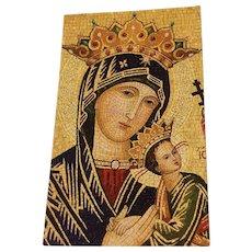 Vintage Mother Of Perpetual Help Prayer Card