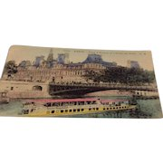 World War I French Post Card Paris Soldiers Mail