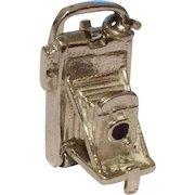 Vintage Old Wells Sterling Silver Camera Charm