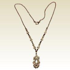 Vintage Art Deco Paste Rhinestone Necklace