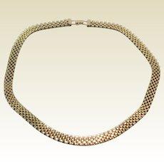 Vintage Gold Filled Mesh Necklace