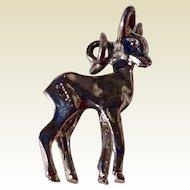 Vintage Sterling Silver Deer Charm