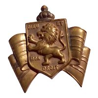 Gold Tone Metal Accessocraft British War Relief Pin