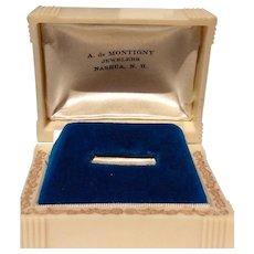 Vintage Celluloid Ring Presentation Jewelry  Casket Box