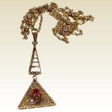 Antique 10 K Gold Ruby Lavalier