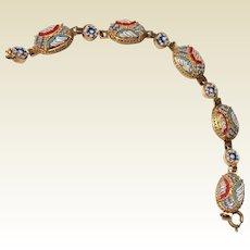 Vintage Italian Micromosaic Grand Tour Bracelet