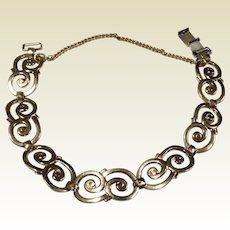 Vintage Symmetalic 14 K Gold & Sterling Silver Bracelet