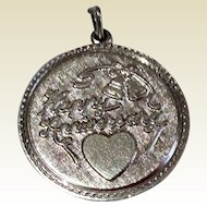 Vintage Sterling Silver Happy Anniversary Disk Charm