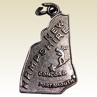 Vintage Sterling Silver New  Hampshire Charm
