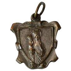 Vintage St. Anne Sliding Reliquary