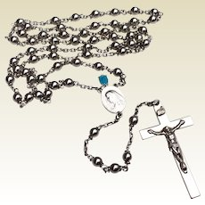 Vintage Sterling Silver Catholic Religion Rosary