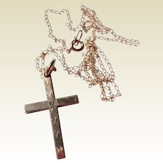 Vintage Child's 12K Gold Filled Cross & Chain