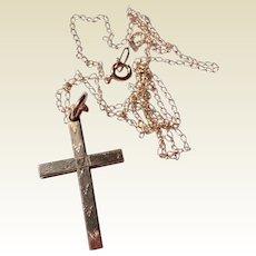Vintage Child's 12K Gold Filled Cross & Chain
