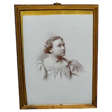 Vintage Brass Easel Back Photo Frame