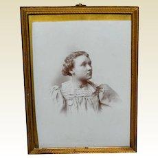 Vintage Brass Easel Back Photo Frame