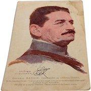 World War I Soldiers Mail Postcard General Mangin
