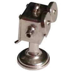 Vintage Sterling Silver Hollywood Film Makers Mechanical 3 D Charm