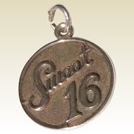 Vintage Sterling Silver Danecraft Sweet 16 Charm