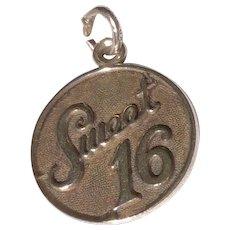 Vintage Sterling Silver Danecraft Sweet 16 Charm