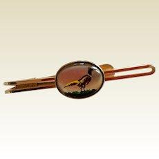 Vintage Gold Filled Essex Crystal  Krementz Pheasant Tie Bar