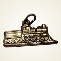 Vintage Sterling Silver Train Charm