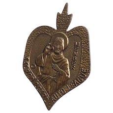 Catholic Sacred Heart Auto League Member Auto Metal Stick On Medal