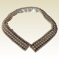 Vintage 1940's 1950's Faux Pearl Collar