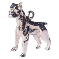 Vintage Sterling Silver Bulldog Charm