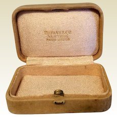 Vintage Faux Suede Tiffany & Co. Jewelry Display Presentation Box